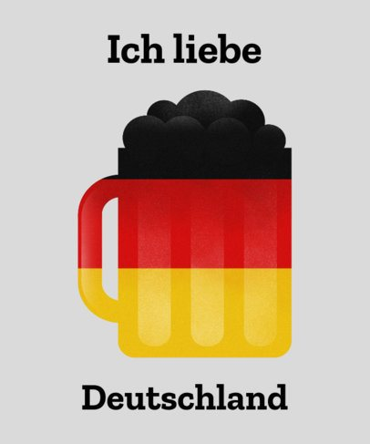 German Beer T-Shirt Design Generator 1405b