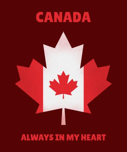 T-Shirt Design Maker with a Canadian Leaf 1405c