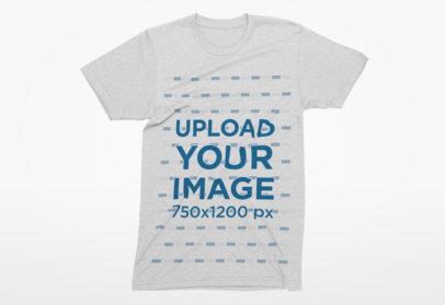 Simple Crewneck T-Shirt Mockup over a Flat Background 2 el