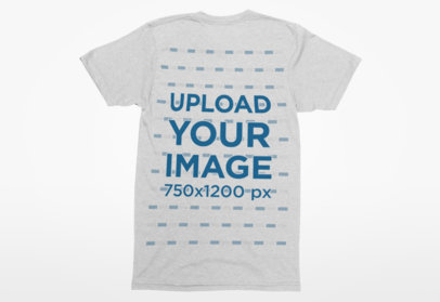 Back View Mockup of a Tee Lying on a Solid Color Surface 6-el