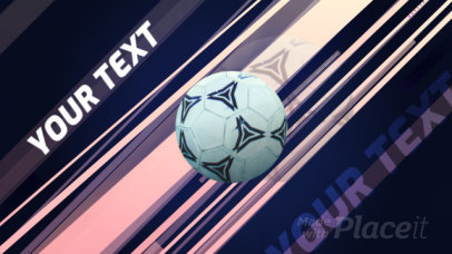 Sports Video Intro Maker with Soccer Elements 1428