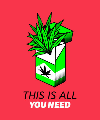 T-Shirt Design Generator with a Cannabis Pack 1410e