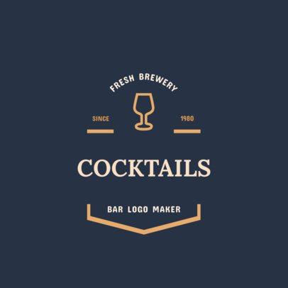 Cocktail Bar Logo Maker 355d