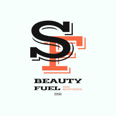 Beauty Brand Monogram Logo Maker with a Bold Font 2211b