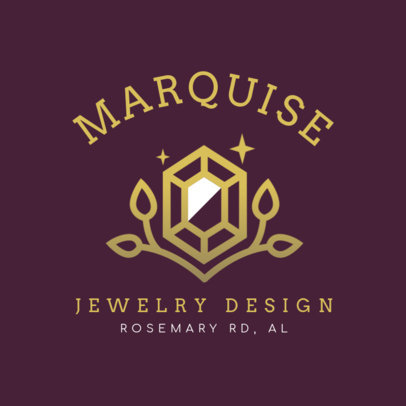 Jewelry Design Logo Maker Featuring a Precious Stone Graphic 2189d