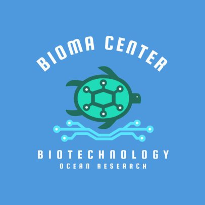 Biotechnology Company Logo Generator with a Turtle Clipart 2175b