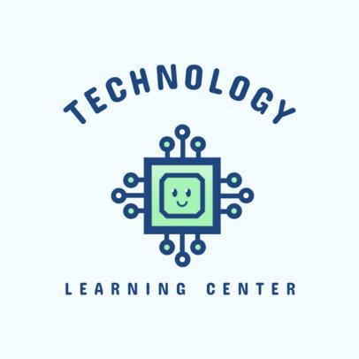 Modern Logo Generator for a Tech Learning Center 2175e