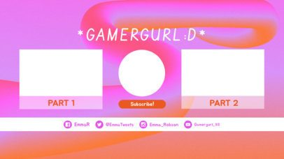 YouTube End Card Generator with Bubblegum Style 1428b