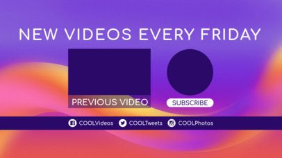 Colorful YouTube End Card Template for Announcements 1428e