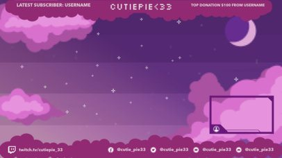 Twitch Overlay Design Template with Pixel Art 1250