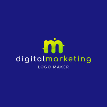 Digital Marketing Logo Maker with Modern Design Letters 2227b