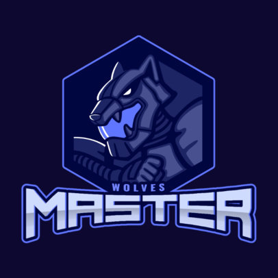 Battle Royale Logo Creator Featuring an Angry Wolf 1877c