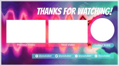 YouTube End Screen Maker with a Wavy Glitch Effect 1429