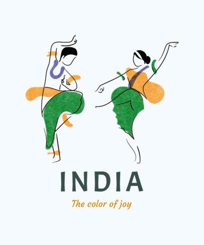 T-Shirt Design Maker with Indian Dancer Clipart 1408e