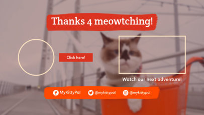 Pet-Themed YouTube End Card Generator with a Cat Picture 1436b