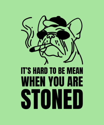 Cannabis T-Shirt Design Maker with a Funny Dog Graphic 1424