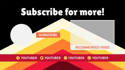 YouTube End Screen Creator with Geometric Color Shapes 1438b