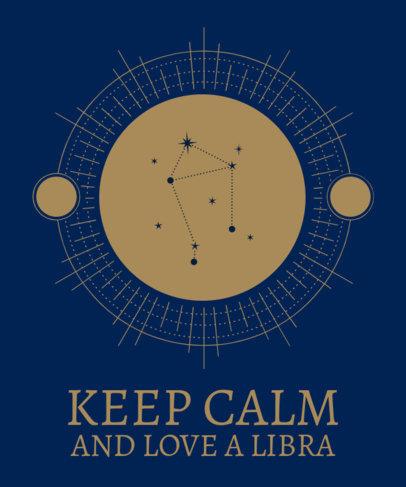 Mystic Looking Zodiac T-Shirt Design Template 1426d