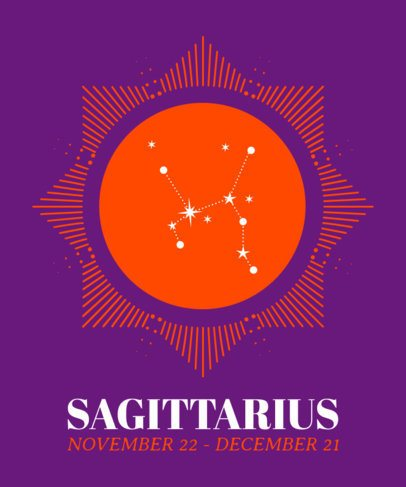 Sagittarius T-Shirt Design Maker 1426e