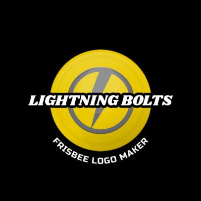 Frisbee Logo Template Featuring a Bolt Graphic 2224d