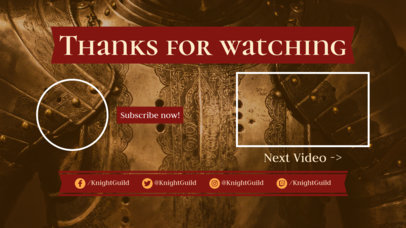 Fantastic YouTube End Screen Design Template 1435