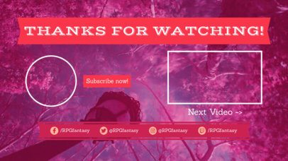 YouTube End Screen Maker with a Pink Fantasy Style 1435b