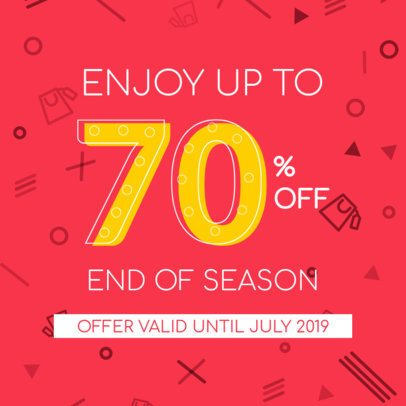 Ad Banner Maker for an End-of-Season Sale 286a