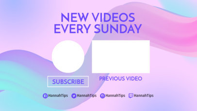Youtube End Card Template with Brush Strokes 1432a