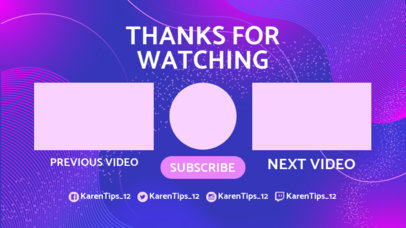 Youtube End Card Template with a Minimalistic Design 1432d