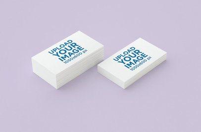 Minimal Mockup Featuring Two Business Card Packs 45-el