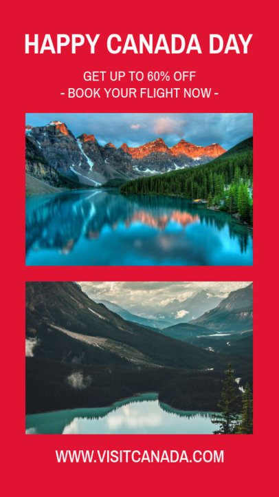 Traveling Instagram Story Template with a Canada Day Theme 962f