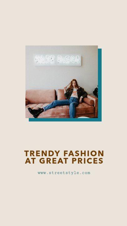 Minimal Instagram Story Template for a Clothing Brand 968c