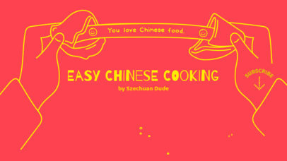 YouTube Banner Maker for a Chinese Cooking Channel 415a