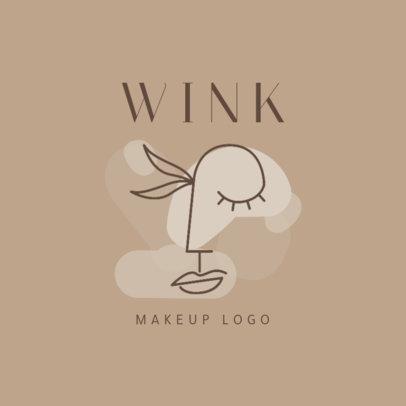 Minimalist Logo Template for a Makeup Brand 2212e