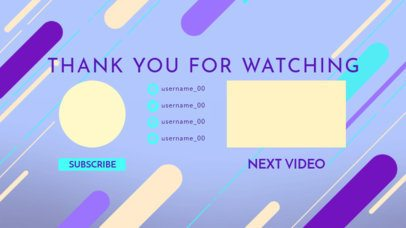 YouTube End Card Template With Vivid Colors 1434b