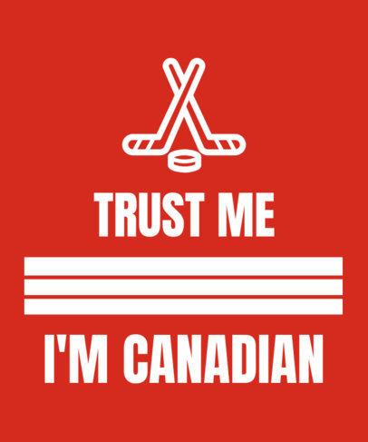 Patriotic T-Shirt Design Maker for Canada Day 1191i