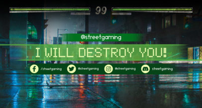 Fighting-Gaming Twitch Banner with a Night City Scenario 1458e