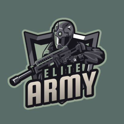 FPS Game Logo Generator with an Army Soldier Graphic 1743c