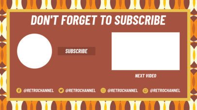 YouTube End Card Generator Featuring a Classical Style Background 1430e