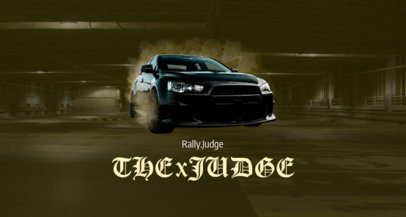 Twitch Banner Maker for a Street Racing Games Streamer 1457c