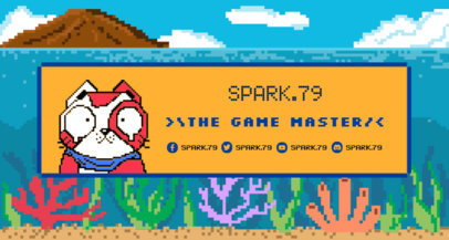 Twitch Banner Make with a Fun Pixel Art Cat 1453e