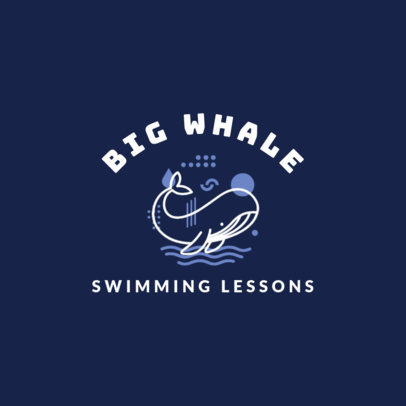 Swimming Logo Maker for Swimming Lessons 1579c