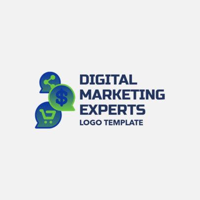 Digital Marketing Logo Maker with Multiple Icons 2228c