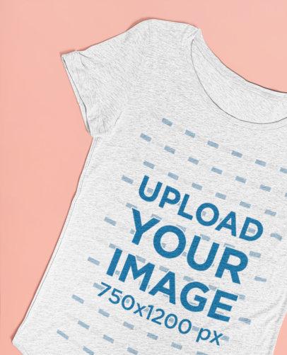 Heathered T-Shirt Mockup Lying over a Minimalist Surface 27670