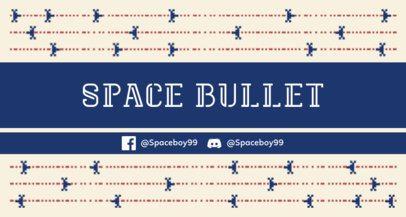 Twitch Banner Maker Featuring 8-bit Spaceships 1447a