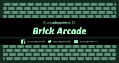 Twitch Banner Maker with 8-bit Brick Patterns 1447b
