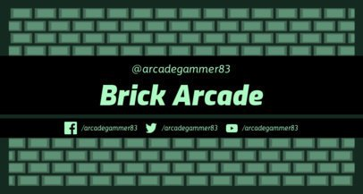 Twitch Banner Maker with 8-bit Brick Patterns 1447b