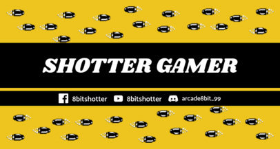 Twitch Banner Maker Featuring 8-bit Bullets 1447e