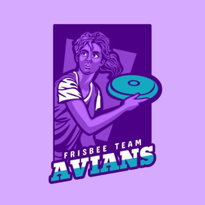 Frisbee Team Logo Generator with People Illustrations 2223c