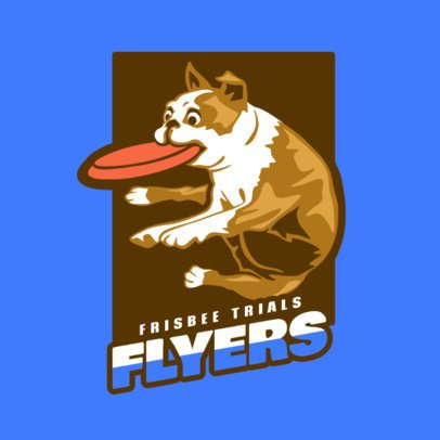 Frisbee Logo Generator with a Fun Dog Clipart 2223d